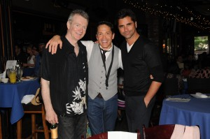 Peter White, Dave Koz and John Stamos (Photo by David Hopley)