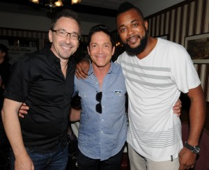 "Brian Simpson, Dave Koz & ""Third"" Richardson (photo by David Hopley)"