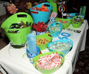 A dessert bar filled with candy! (photo by David Hopley)