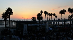 Sunset at Lites-Out Jazz at the Beach (photo by David Hopley)
