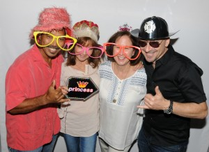 Michael & Teri Paulo with friends at the photo booth (photo by David Hopley)