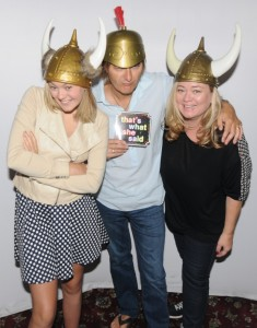 Olivia Rox with her parents, Warren & Tamara Hill at the photo booth (photo by David Hopley)