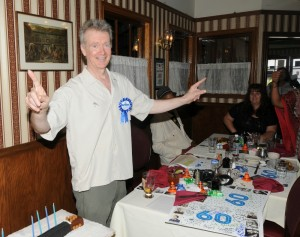 Peter White at his 60th Birthday Party at the Robin Hood Pub in Sherman Oaks, California (photo by David Hopley)