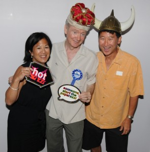 Peter White (center) with his friends from Seattle, Chrissy & Eric Yamada (photo by David Hopley)
