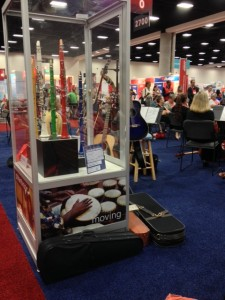 NAMM & Museum of Making Music booth at AARP's Ideas@50+ expo in San Diego