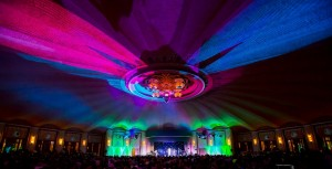 Casino Ballroom during evening show at the Catalina Island JazzTrax Festival (photo by Pat Benter)