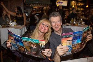 Mindi Abair & Peter White celebrating Smooth Jazz News' 14th anniversary at Spaghettini in February 2014 (Photo by Pat Benter)