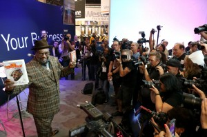 George Clinton at the 2015 NAMM show media preview day at the Anaheim Convention Center on Jan. 21, in Anaheim, California (Photo by Jesse Grant/Getty Images for NAMM)