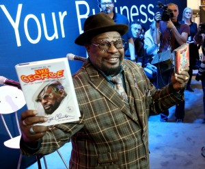 George Clinton at the 2015 National Association of Music Merchants (NAMM) show media preview day at the Anaheim Convention Center on January 21, 2015 in Anaheim, California. (Photo by Jesse Grant/Getty Images for NAMM)