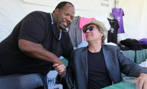 Craig Collier and Jeff Golub at the 2012 Hyatt Regency Newport Beach Jazz Festival (Photo by David Hopley)