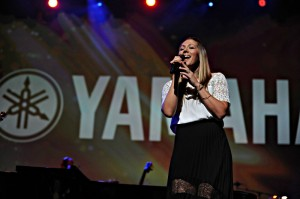 Colbie Caillat performing at Yamaha's Dealer Concert in Anaheim, CA, on Jan. 23, 1015 (Photo by David Hopley)