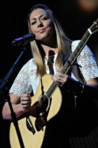 Colbie Caillat performing at the Yamaha Dealer Concert during the 2015 NAMM Show in Anaheim, CA (photo by David Hopley)