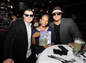 DW3 members Eric Mondragon & DamonReel with a friend in the lounge at Spaghettini (Photo by David Hopley)
