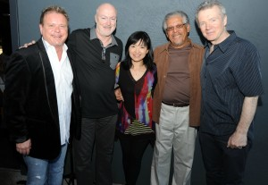 Euge Groove, Art Good, Keiko Matsui, Al Williams & Peter White at Spaghettini (Photo by David Hopley)