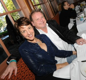 Euge Groove and his wife Bane at Spaghettini during Smooth Jazz News' 15th anniversary brunch celebration on Feb. 8, 2015 (Photo by David Hopley)