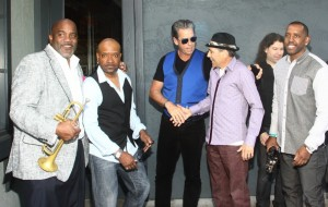 "Joey Sommerville, Rayford Griffin, ""Q"", Gregg Karukas, Dirk K & Jarez outside of Spaghettini in Seal Beach (Photo by Ambrosevents.com/wwww.ellismoore.com)"