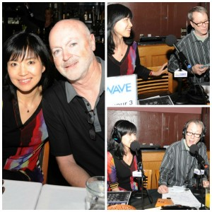 Keiko Matsui with Art Good; Keiko during on-air interview with Bill Dudley/94.7 The WAVE (Photo by David Hopley)