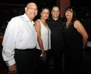 Phil Perry, Kim Benoit and her husband Ozzie (Rainbow Promotions) & Lillian Perry at Smooth Jazz News 15th anniversary brunch party (Photo by David Hopley)