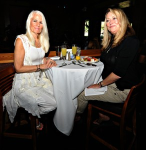 Terri Normann & Janis St. Marie at Spaghettini Seal Beach during the Smooth Jazz News 15th anniversary brunch party (Photo by David Hopley)