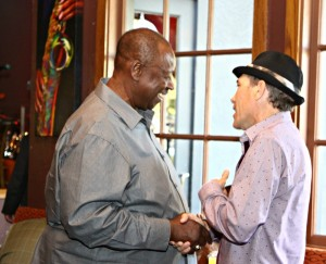 Willie Payne & Gregg Karukas at Smooth Jazz News' 15th anniversary brunch party (Photo by Ambrosevents.com/wwww.ellismoore.com)