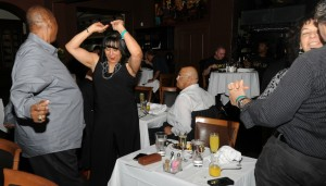 Willie Payne & Lillian Perry dancing to the old-school soul of DW3 at Spaghettini (Photo by David Hopley)