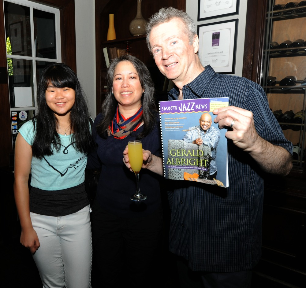 Peter White with his daughter Charlotte & wife Robin at Spaghettini (Photo by David Hopley)