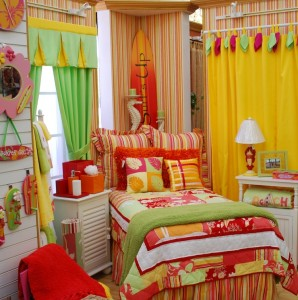Colorful bedroom furnishings at Florida Linen, my favorite Panama City Beach store , 12011 Panama City Beach Pkwy. (www.floridalinen.net)
