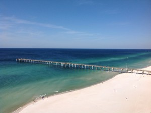 Ocean view from a condo in the Calypso Towers in Panama City Beach, Florida