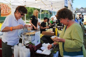 Pasta food vendor serving up samples at KSBR's 2012 Taste of the Bash (Photo by David Hopley)