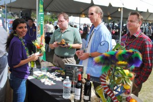 Sampling of New Orleans-style cuisine at KSBR's Taste of the Bash in 2012 (Photo by David Hopley)