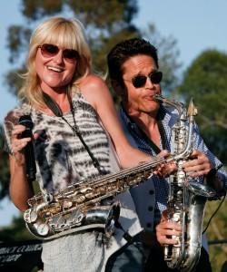 Mindi Abair & Dave Koz performing at the 2012 KSBR Birthday Bash (Photo by David Hopley)