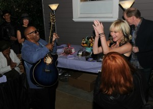 Ellis Hall & Mindi Abair jammin' at her birthday party (photo by David Hopley)