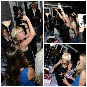 Mindi Abair partying with friends at her Hollywood home (photos by David Hopley)