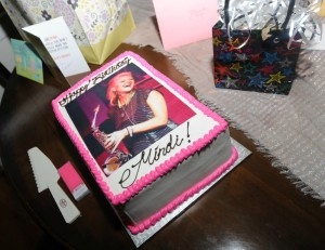 One of Mindi's birthday cakes (photo by David Hopley)