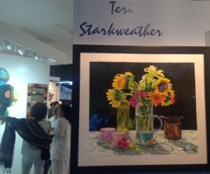 Teri Starkweather's Tea Party Posies watercolor (www.teristarkweather.com)