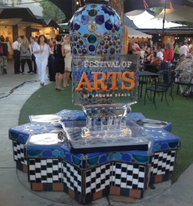 Festival of Arts ice sculpture
