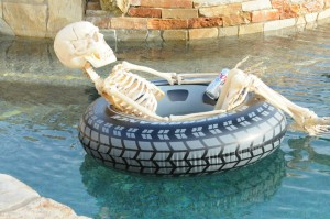 Skeleton ghoul in the Elliot's pool (Photo: David Hopley)