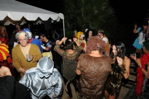 Halloween party, poolside at the Elliot Compound in Escondido, California (Photo: David Hopley)