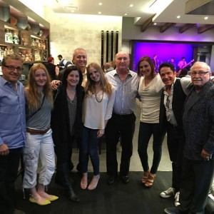 Dave Koz and his family dining at Spaghettini & the Dave Koz Lounge in Beverly Hills, California