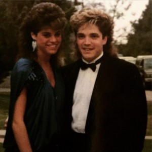 Dave Koz and his prom date, Lisa