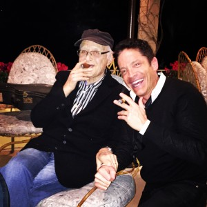 Dave Koz enjoying a cigar with his friend, TV writer, producer and director Norman Lear