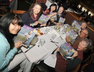 Special guests at the 2015 Smooth Jazz News Anniversary Brunch & Jam Session: Charlotte White, Robin Pao, Keiko Matsui, Art Good, Craig Collier, Peter White, Al & Sandy Williams (photo by David Hopley)