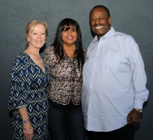 Gail Jhonson (center) with Kathy & Willie Payne of Payne Pest Management (photo by David Hopley)