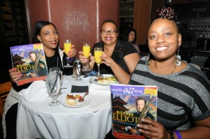 Felicia Pennington, Evette Benjamin & Yvette Perkins celebrating Smooth Jazz News' 16th anniversary at Spaghettini in Seal Beach, CA (photo by David Hopley)
