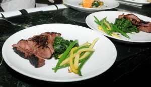 Sliced sirloin is an additional menu item served during Spaghettini's Legendary Champagne Jazz Brunch in Seal Beach, CA (photo by David Hopley)