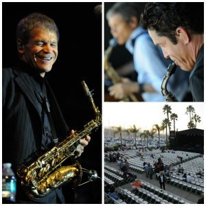 (left to right): David Sanborn, Sanborn & Dave Koz, Humphreys Concerts by the Bay venue in San Diego (Photos by David Hopley)