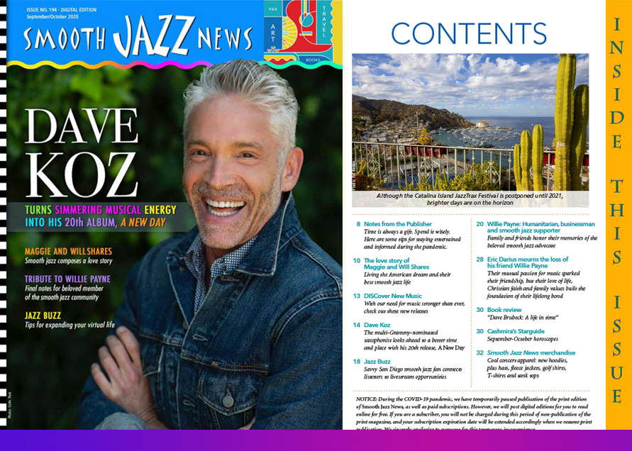 Smooth Jazz News September/October Cover
